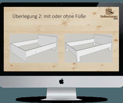 bett selber bauen videokurs in 3 tagen ein eigenes bett aus holz bauen. Black Bedroom Furniture Sets. Home Design Ideas