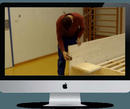 Umsetzung Bett selberbauen